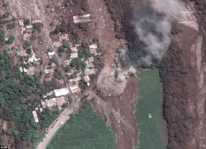 Khốc liệt hình ảnh trước và sau thảm họa núi lửa ở Guatemala - Ảnh 3.