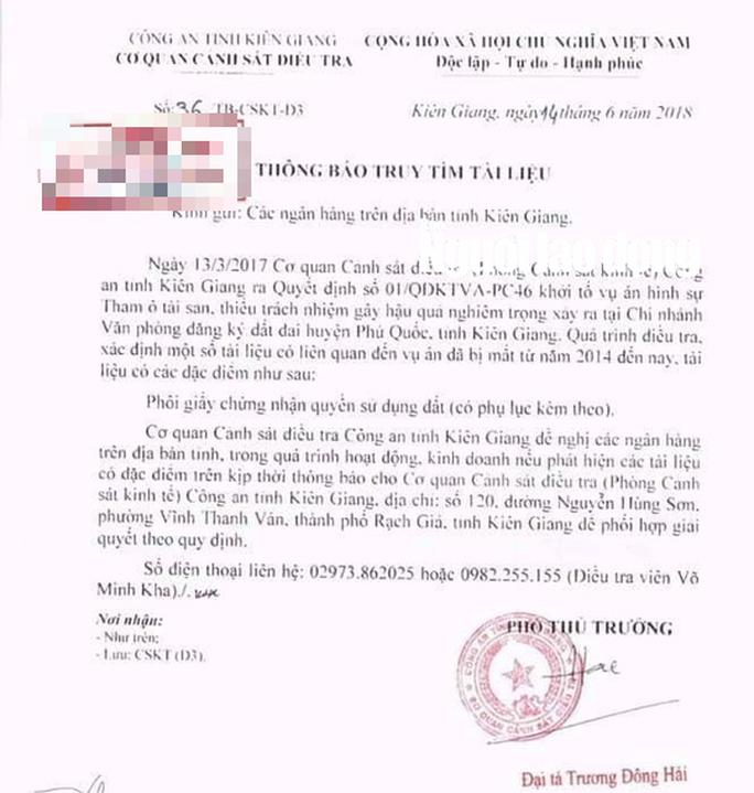 """Hơn 1.000 phôi sổ đỏ ở Phú Quốc bỗng nhiên """"biến mất"""" - Ảnh 1."""