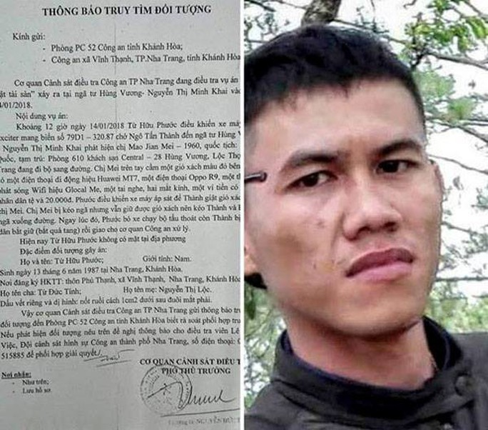 Cựu cầu thủ U23 Quốc gia Từ Hữu Phước bị truy tìm vì cướp giật - Ảnh 1.