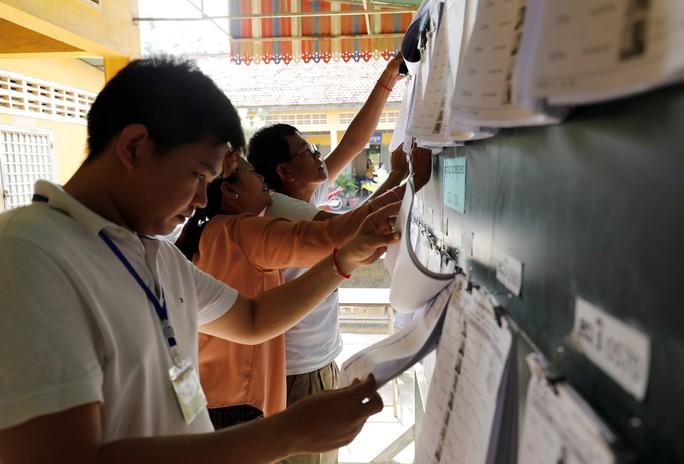 Campuchia bước vào tổng tuyển cử - Ảnh 1.