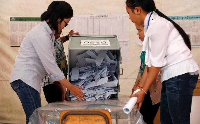 Campuchia: Đảng cầm quyền tuyên bố thắng tuyệt đối - Ảnh 1.