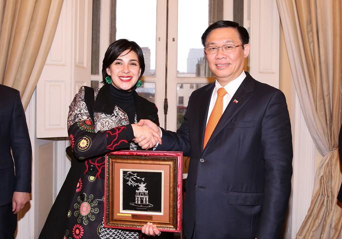Phó Thủ tướng Vương Đình Huệ dâng hoa tại Công viên Hồ Chí Minh tại Chile  - Ảnh 8.