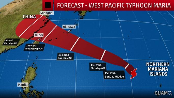Siêu bão mạnh lên 5 cấp trong 24 giờ đe dọa châu Á - Ảnh 1.