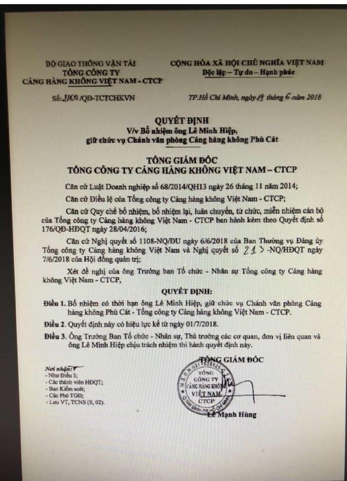 Vụ bổ nhiệm 76 cán bộ cùng ngày: Chủ tịch ACV lên tiếng  - Ảnh 1.