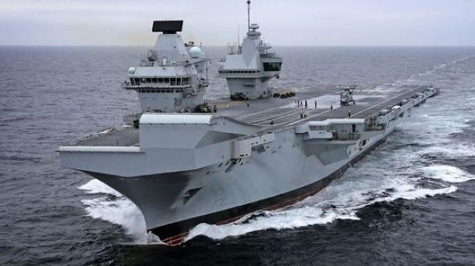 Tàu chiến khủng của Anh tới Mỹ tập trận với siêu chiến đấu cơ - Ảnh 1.