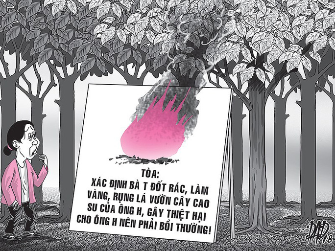 Tây Ninh: Bị lôi ra tòa vì... đốt rác 12 ngày đêm  - Ảnh 1.
