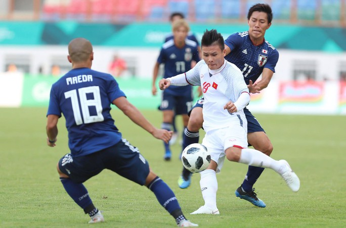 Thắng Nhật 1-0, Olympic Việt Nam giành ngôi nhất bảng - Ảnh 3.