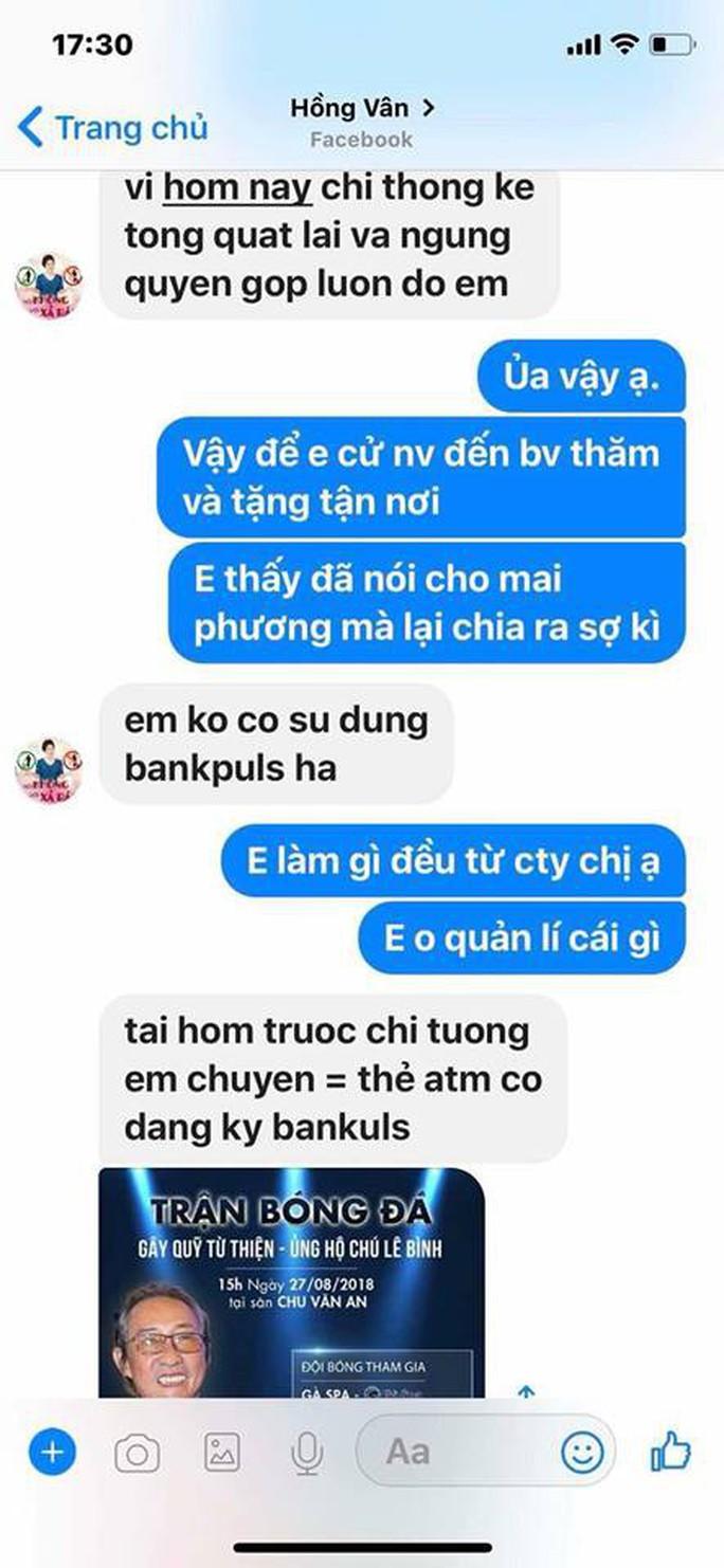 Giả mạo Facebook của Hồng Vân, Quốc Thuận để lừa tiền hỗ trợ Mai Phương, Lê Bình - Ảnh 4.