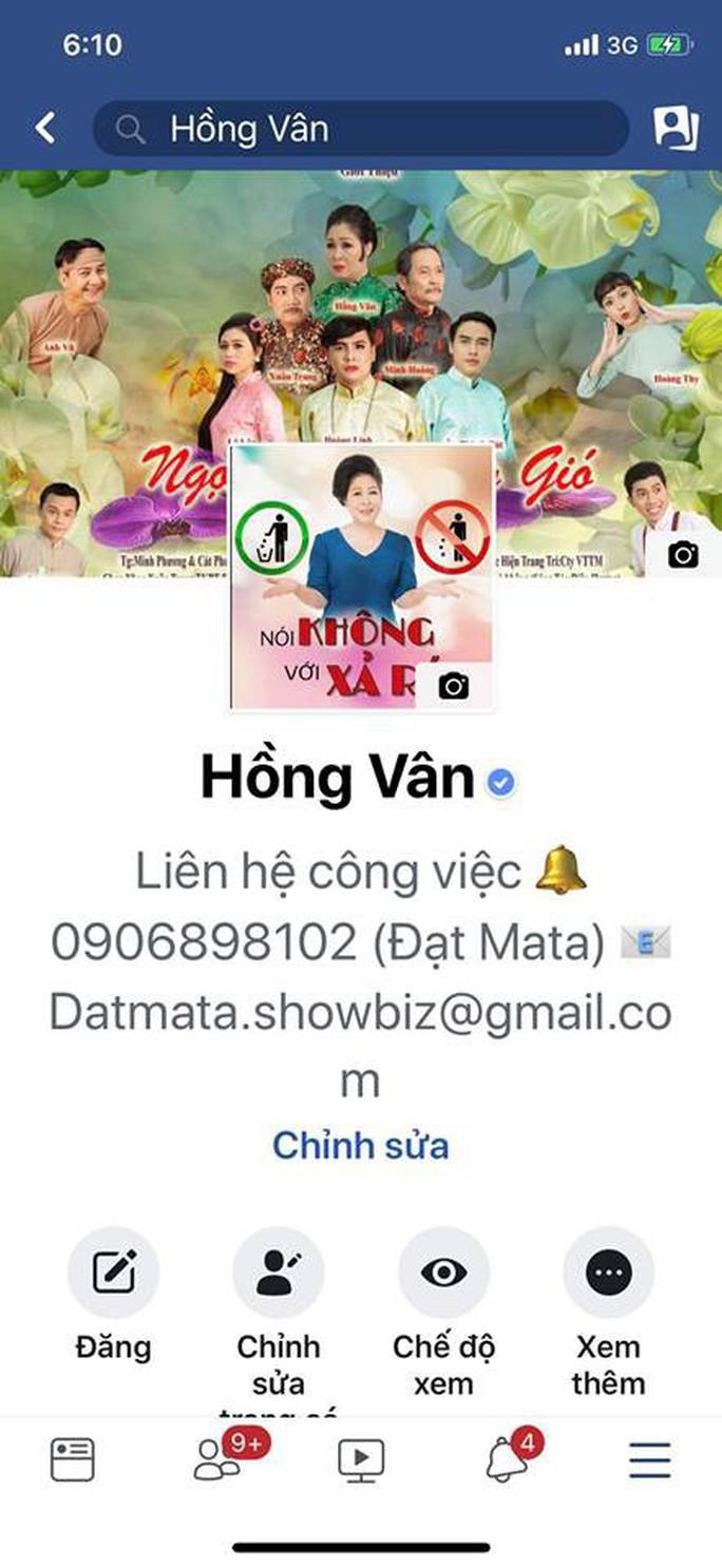 Giả mạo Facebook của Hồng Vân, Quốc Thuận để lừa tiền hỗ trợ Mai Phương, Lê Bình - Ảnh 2.