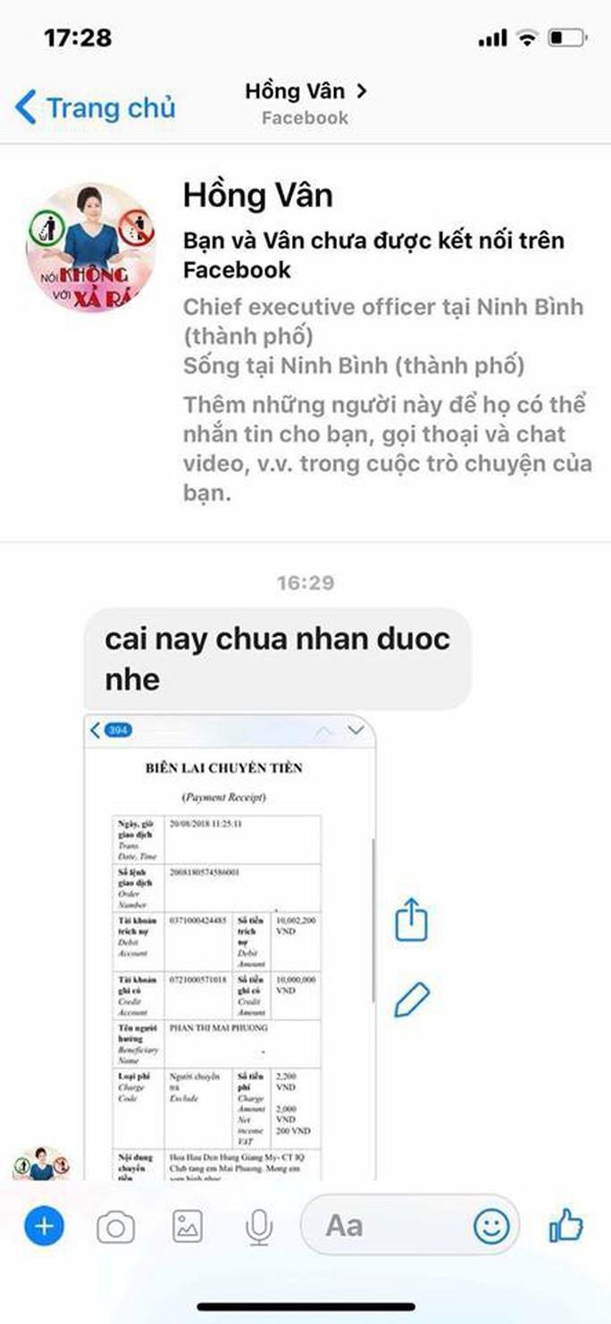 Giả mạo Facebook của Hồng Vân, Quốc Thuận để lừa tiền hỗ trợ Mai Phương, Lê Bình - Ảnh 3.