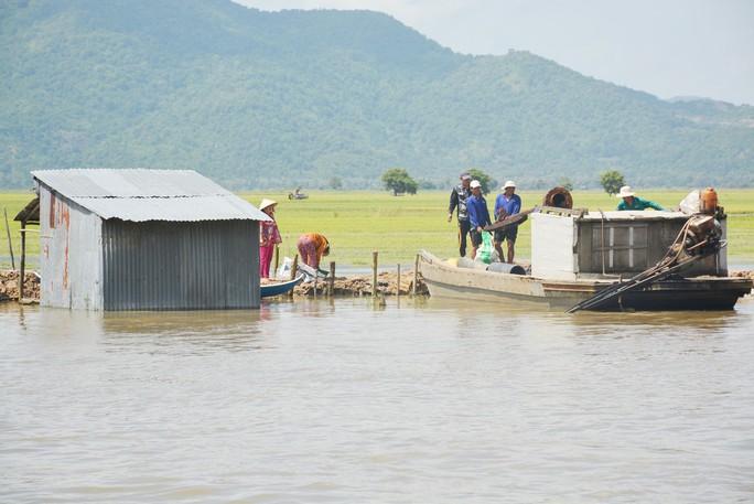 Hàng chục ngàn ha lúa vùng Tứ giác Long Xuyên bị nước lũ uy hiếp - Ảnh 3.