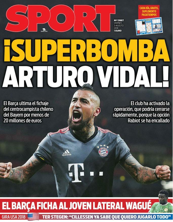 Barcelona lại gây chấn động với bom tấn Vidal - Ảnh 2.
