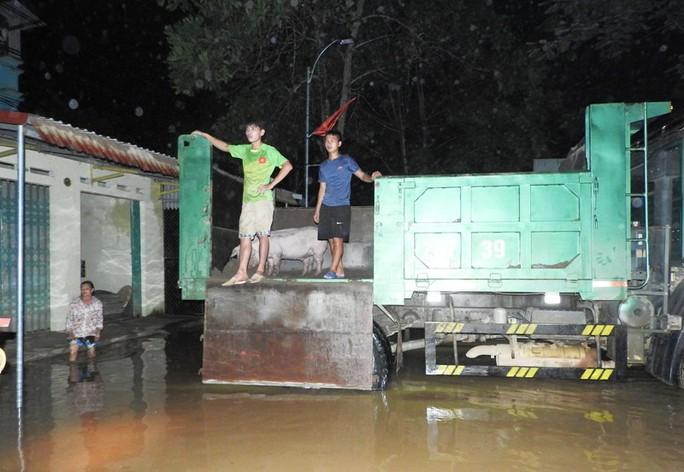 Lũ xô đổ cầu treo, nước ngập lên tới nóc nhà - Ảnh 8.