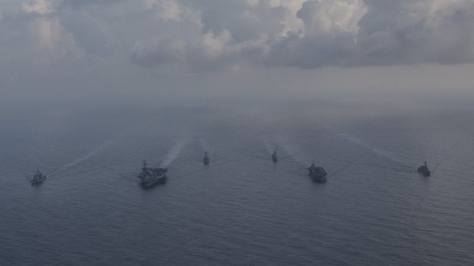 Tàu sân bay Mỹ - Nhật tập trận chung ở biển Đông - Ảnh 5.