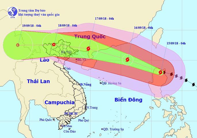 Siêu bão Mangkhut chiều nay vào Biển Đông, thành bão số 6 - Ảnh 1.