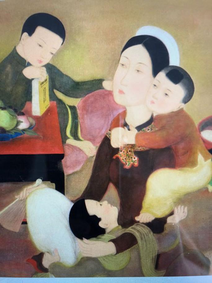 Đấu giá quốc tế bức tranh Gia đình của Lê Phổ - Ảnh 1.