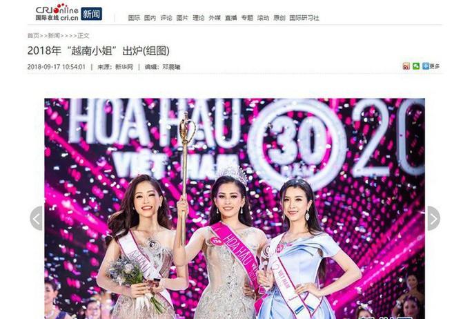 Tân Hoa hậu Việt Nam được báo chí nước ngoài khen ngợi - Ảnh 2.