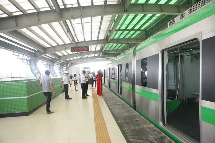 Cận cảnh lăn bánh chạy thử 5 đoàn tàu đường sắt trên cao Cát Linh-Hà Đông - Ảnh 6.