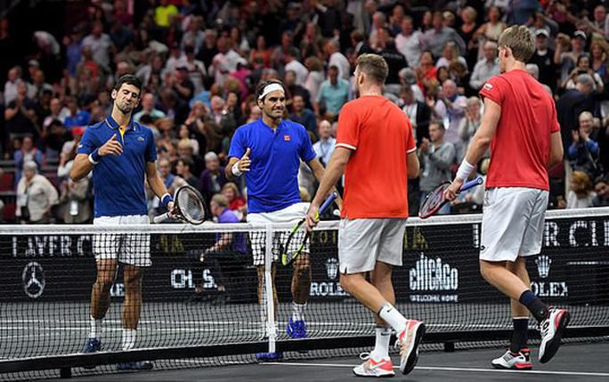 Cặp đôi Federer – Djokovic thua ngược ở Laver Cup 2018 - Ảnh 1.