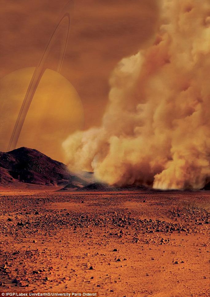 Siêu bão bụi mang dấu hiệu sự sống trên mặt trăng Sao Thổ - Ảnh 1.