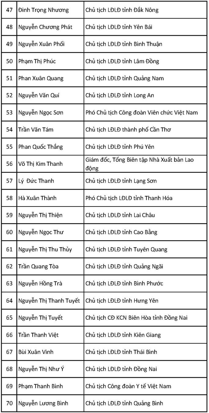 Ông Bùi Văn Cường tái đắc cử Chủ tịch Tổng LĐLĐ Việt Nam khóa XII - Ảnh 13.