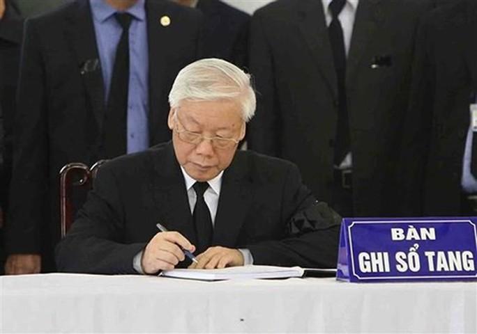 Lãnh đạo Đảng, nhà nước viết gì trong sổ tang Chủ tịch nước Trần Đại Quang? - Ảnh 1.