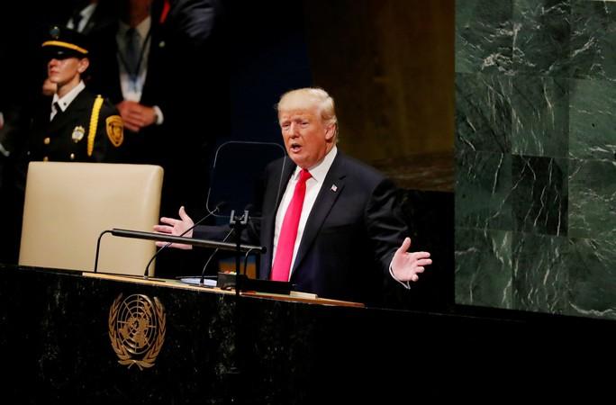 Ông Trump phát biểu tại LHQ, bất ngờ có tiếng cười khúc khích - Ảnh 1.