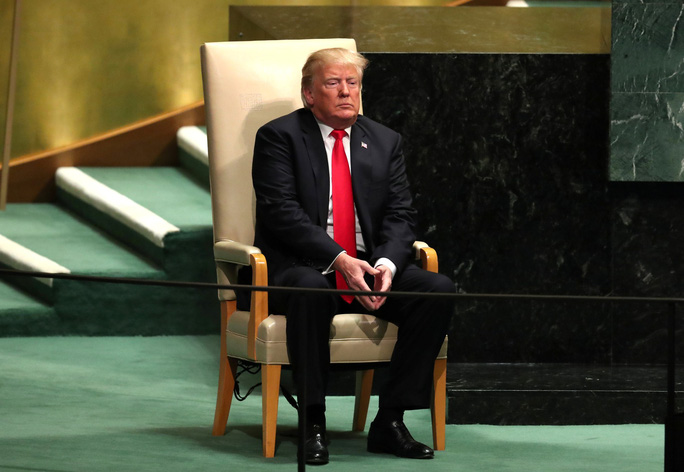 Ông Trump phát biểu tại LHQ, bất ngờ có tiếng cười khúc khích - Ảnh 3.