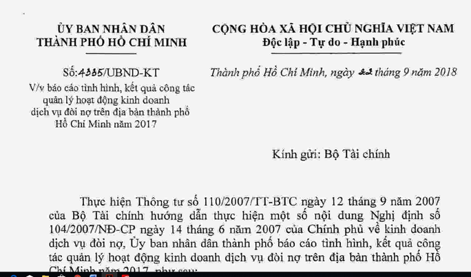 TP HCM kiến nghị Chính phủ cấm dịch vụ đòi nợ thuê - Ảnh 1.