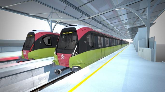 Lộ diện đoàn tàu chạy tuyến đường sắt Nhổn - ga Hà Nội cuối năm 2020 - Ảnh 1.