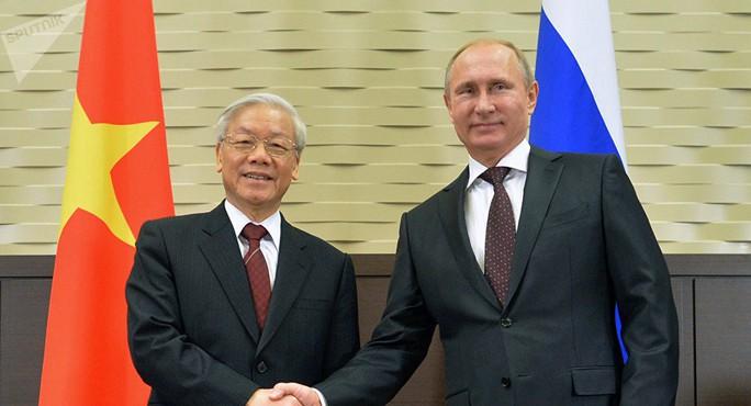 Tổng Bí thư Nguyễn Phú Trọng hội đàm với Tổng thống V. Putin tại Sochi - Ảnh 1.