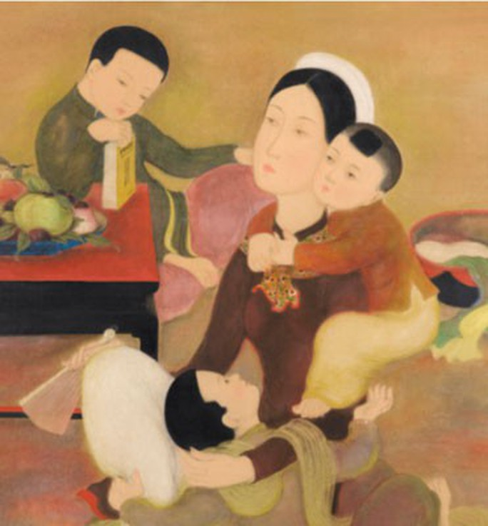 Bức tranh Gia đình của Lê Phổ bán với giá gần 750.000 USD - Ảnh 1.