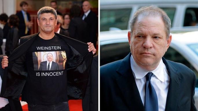 Đạo diễn Ý gây sốc khi mặc áo ủng hộ ông trùm bê bối tình dục - Ảnh 2.
