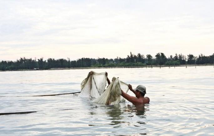 Đua nhau săn con cá nhỏ nhưng độc ở  đầm Chuồn - Ảnh 1.