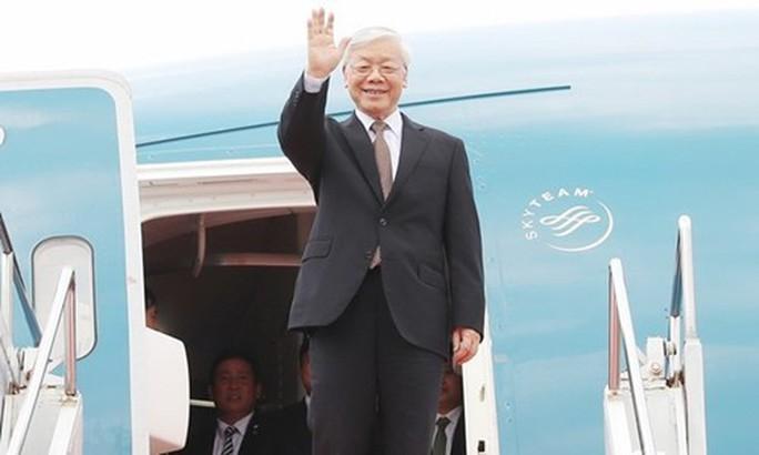 Tổng Bí thư Nguyễn Phú Trọng lên đường thăm Nga - Ảnh 1.
