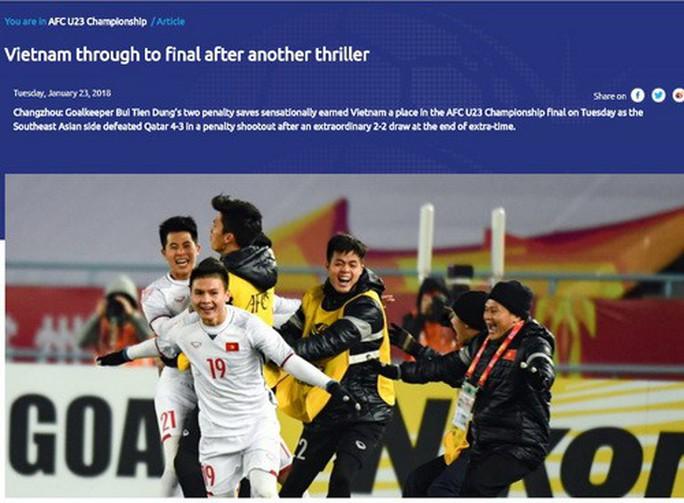 Báo chí thế giới ca ngợi chiến tích kỳ diệu của U23 Việt Nam - Ảnh 3.