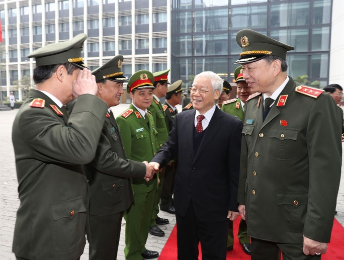 Tổng Bí thư Nguyễn Phú Trọng dự hội nghị Công an toàn quốc - Ảnh 2.
