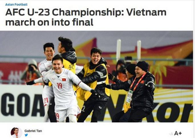 Báo chí thế giới ca ngợi chiến tích kỳ diệu của U23 Việt Nam - Ảnh 2.