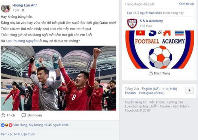 Mạng xã hội Facebook tràn ngập sắc đỏ chiến thắng - Ảnh 6.