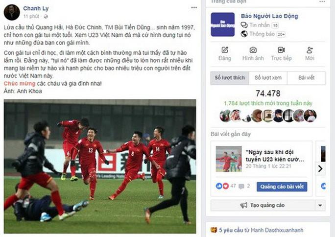 Mạng xã hội Facebook tràn ngập sắc đỏ chiến thắng - Ảnh 7.