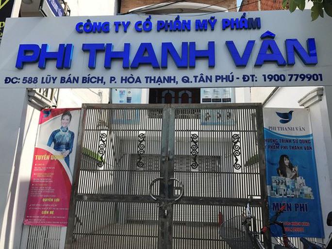 Tạm đình chỉ xưởng sản xuất mỹ phẩm Phi Thanh Vân - Ảnh 1.