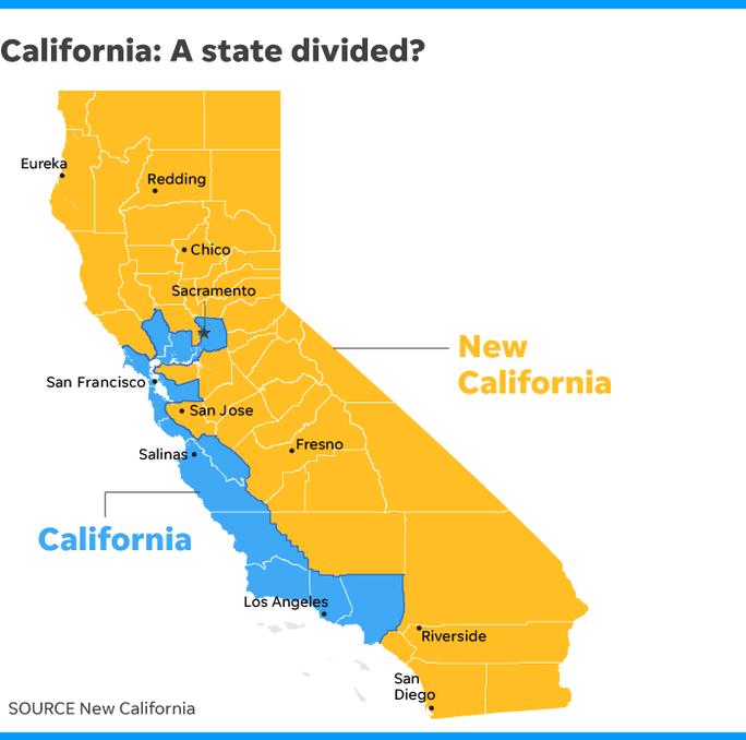 California Mới tuyên bố độc lập khỏi California, quyết thành bang 51 - Ảnh 1.