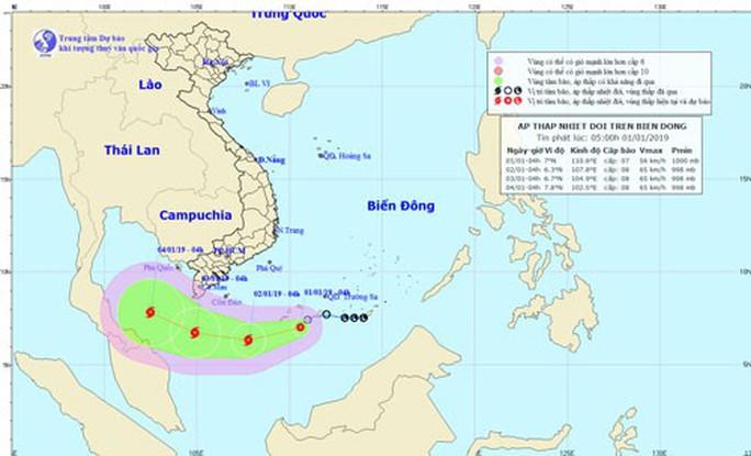 Bão số 1 giật cấp 10 đe dọa vùng biển Cà Mau - Ảnh 1.