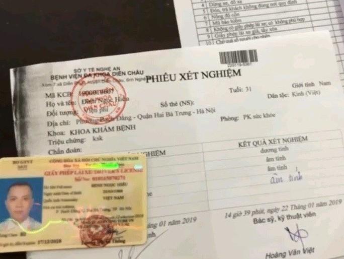 Tài xế sử dụng ma túy, cỏ Mỹ điều khiển xe taxi vượt 300 km từ Hà Nội vào Nghệ An - Ảnh 1.