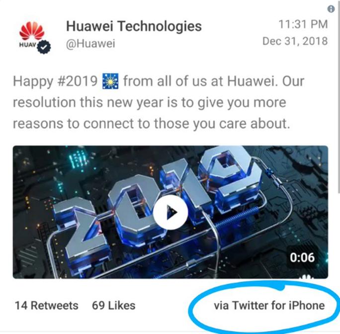 """""""Lỡ tay"""" dùng iPhone, nhân viên Huawei bị phạt nặng - Ảnh 1."""