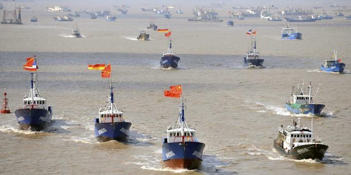 Quân đội Mỹ cảnh báo tàu cá Trung Quốc bắt nạt, đe dọa gây chiến - Ảnh 1.