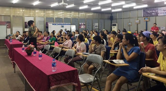 Hải Phòng: Truyền thông về chăm sóc sức khỏe cho nữ công nhân - Ảnh 1.