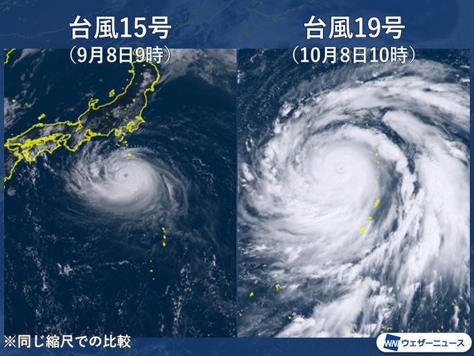 """To gần bằng diện tích Nhật Bản"""", siêu bão Hagibis gầm thét - Ảnh 3."""
