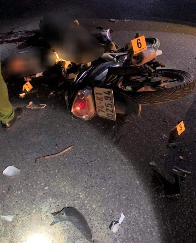 Xe máy đối đầu kinh hoàng khiến 4 người chết, 2 người bị thương - Ảnh 2.