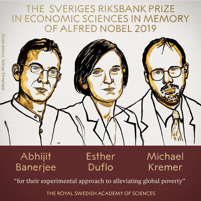 Giải Nobel Kinh tế gọi tên ba người muốn giảm nghèo đói toàn cầu - Ảnh 1.